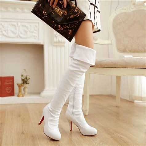 white thigh high boots cheap bsrjc boots