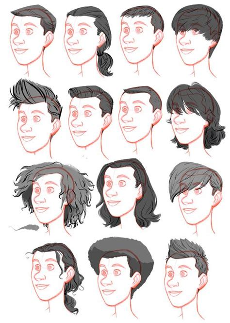 hairstyles drawing male tealin and now the men s catalogue further beard