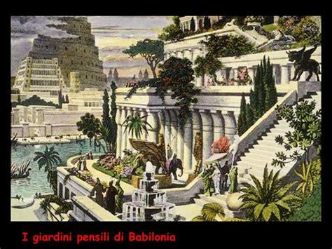 i giardini pensili di babilonia storia giardino d occidente ppt scaricare