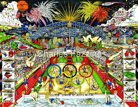 Photo Arts by Olympic Artwork Olympic Charles Fazzino