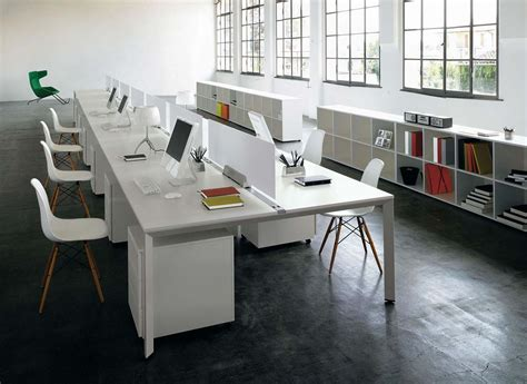 Office Desking Systems Office Bench Desk For The Open Plan Office Office Architect