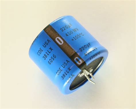 cde aluminum electrolytic capacitors 381lx221m450k032 cde capacitor 220uf 450v aluminum electrolytic snap in high temp 2020021101