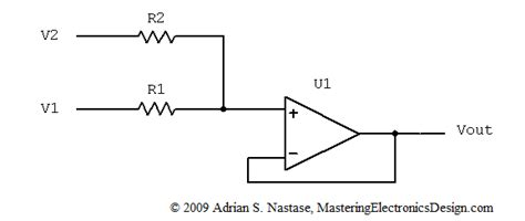 summing with resistors how to derive the summing lifier transfer function