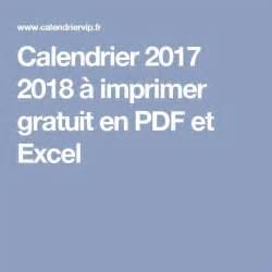 calendrier 2017 2018 224 imprimer gratuit en pdf et excel