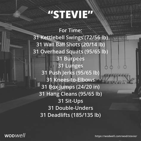 Kettlebell Swing Crossfit by Quot Stevie Quot Wod For Time 31 Kettlebell Swings 72 56 Lb