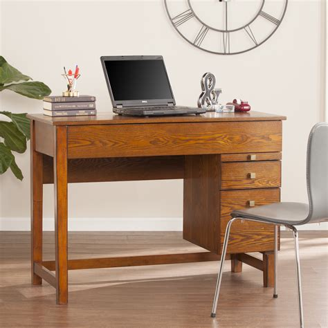 ellenda midcentury adjustable height desk salem oak