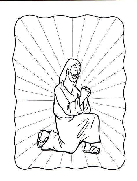 coloring pages jesus praying jesus praying