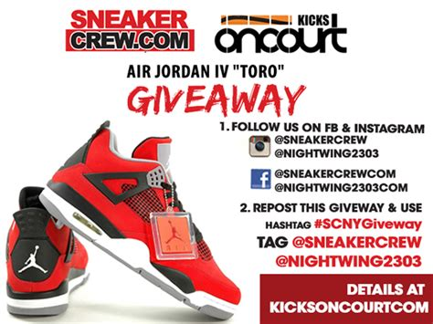Air Jordan Giveaway - air jordan 4 retro toro giveaway details weartesters