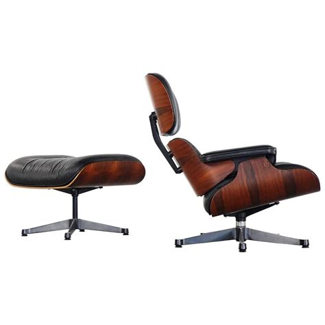 Vitra Eames Lounge Chair And Ottoman Vitra Charles Eames Lounge Chair And Ottoman In Rosewood Herman Miller At 1stdibs
