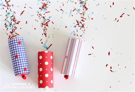 Easy Home Made Christmas Decorations diy confetti poppers for 4th of july happiness is homemade