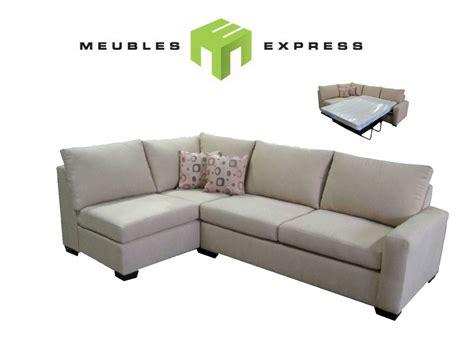 couch express ou sofa sectionnel avec lit double mod 232 le sauterne