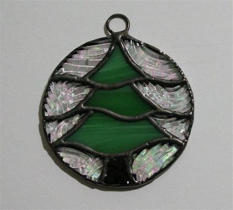 stained glass christmas tree ornament stained glass