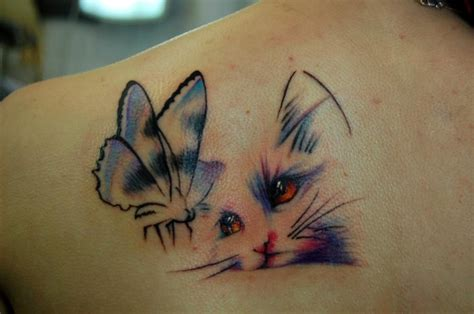 tattoo with cat amazing 3d cat tattoos