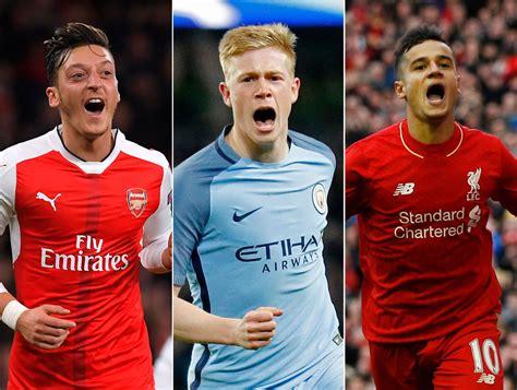 epl best players ranking the 10 best midfielders in the premier league