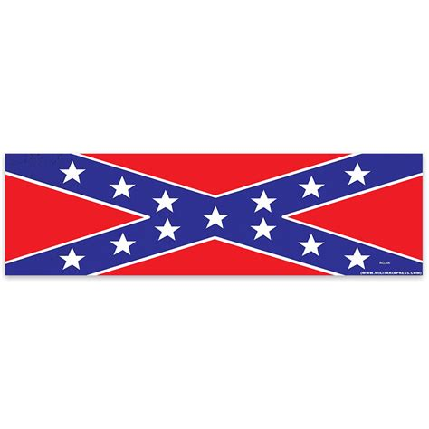 Rebel Bumper Stickers rebel flag 3x10 bumper sticker kennesaw cutlery