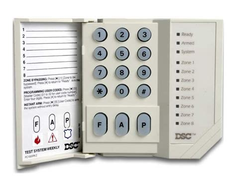 dsc pc1555rkz alarm keypad dsc 8 zone led keypad