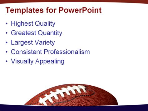 Football With The American Flag In He Background Powerpoint Template Background Of Football Powerpoint Football Template