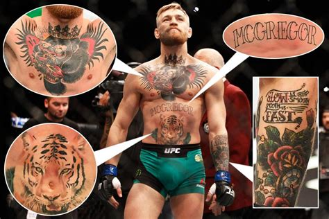 conor mcgregor tattoo left arm 43 notorious facts about conor mcgregor