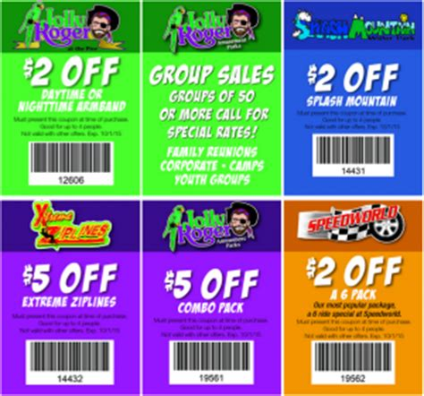 theme park coupons jolly roger amusement park coupons 2015 printable