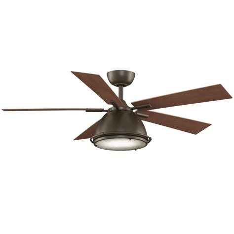 industrial ceiling fan light kit fanimation fp7951sn satin nickel 52 quot 5 blade industrial