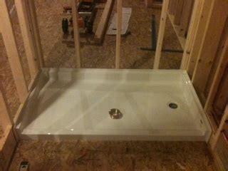installing a shower pan installing pre formed shower base pan