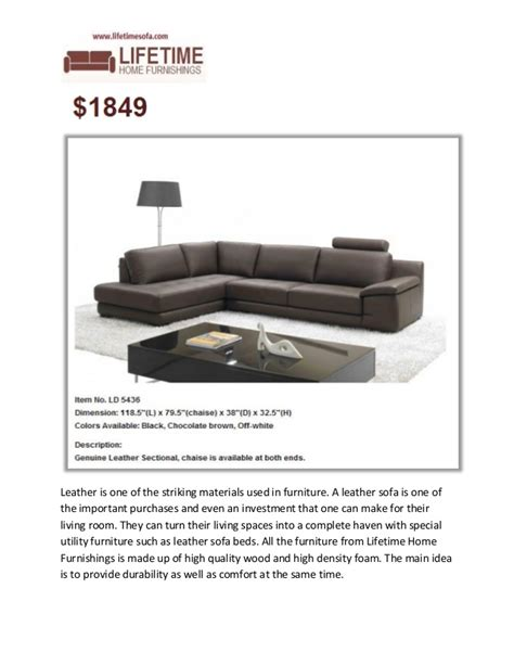 lifetime sofa lifetime home furnishings leather furniture specialist
