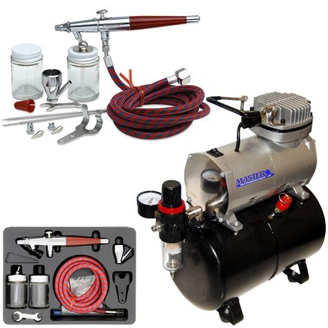 paasche vl set airbrush system kit air compressor tank