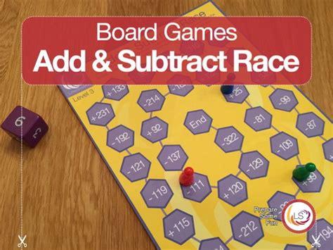 addition board games ks1 printable add subtract race board game addition and subtraction