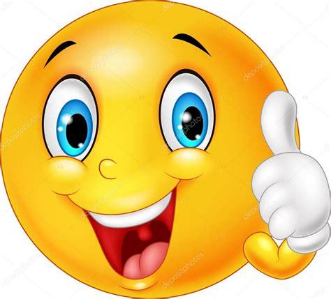 emoji yes emoticono feliz dando pulgar arriba aisladas sobre fondo