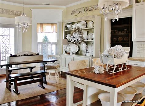 farmhouse kitchens pictures silver and white christmas decorating thistlewood farm