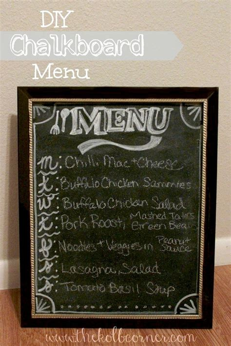 diy chalkboard menu diy chalkboard menu domestically creative