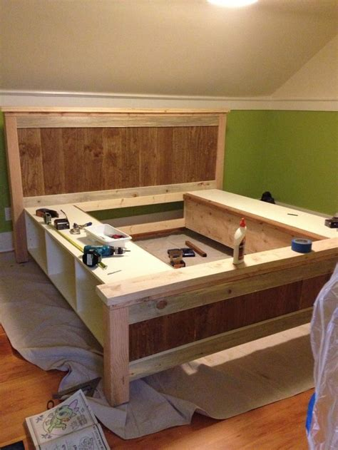 diy bed frame with drawers 17 best ideas about woodworking projects on