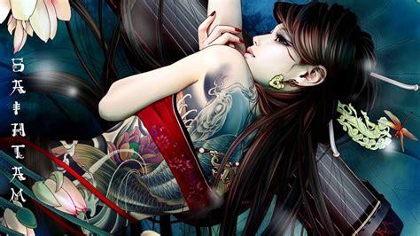 anime girl tattoo hd wallpaper tattoo tattoos wallpaper
