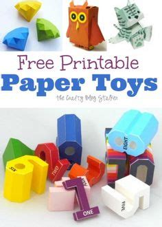How To Make Paper Toys At Home - free printable paper toys toys diy and home improvement