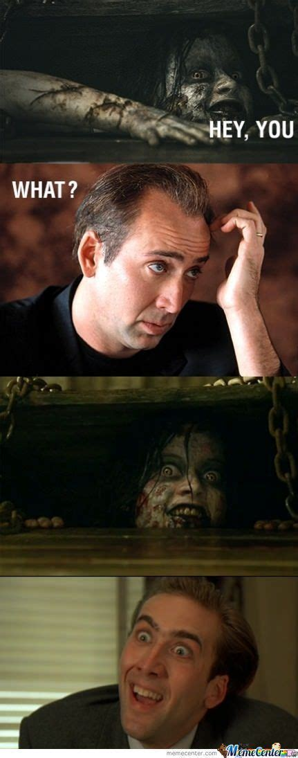 nicholas cage and evil dead by seliparhilang meme center