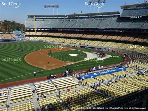 dodger seating view dodger stadium seat views seatgeek