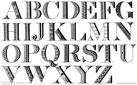 design font style online 矢量复古艺术英文字母矢量图 其他 广告设计 矢量图库 昵图网nipic com