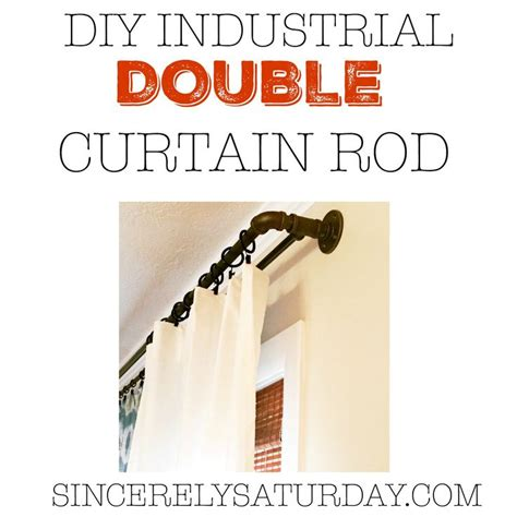 diy double curtain rod best 25 double curtain rods ideas on pinterest curtain
