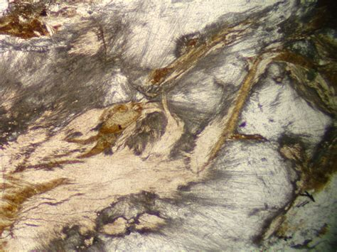 sillimanite in thin section sillimanite