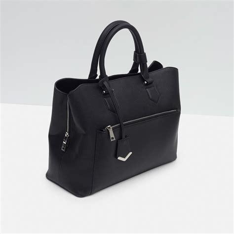 Zara Bag Black zara office city bag in black lyst