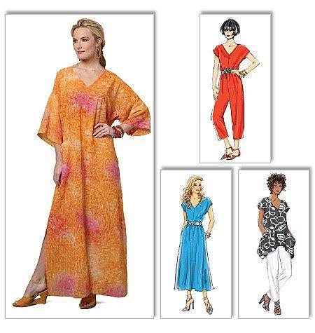 pattern review uk butterick 5652 misses top dress caftan jumpsuit and pants