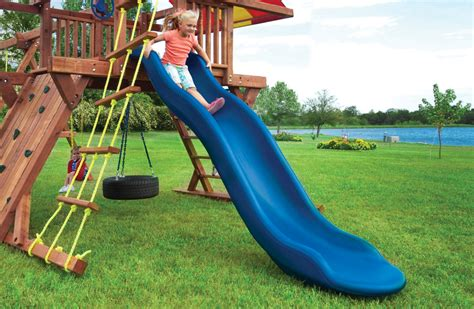 plastic swing and slide playset pot o gold playset with monkey bars tire swing and slide