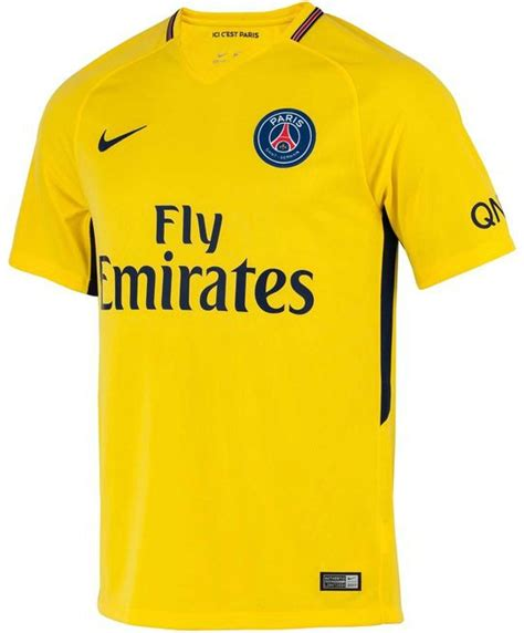 Jersey Psg Home 2016 2017 new psg away kit 2017 18 yellow sg jersey 17 18 by