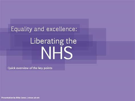 nhs white paper equality excellence authorstream