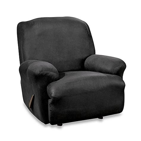 black recliner cover stretch leather black recliner slipcover bed bath beyond
