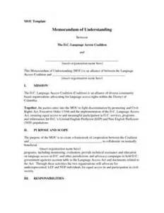 Memorandum Of Understanding South Africa Template by Release Form Sle Images Release Form