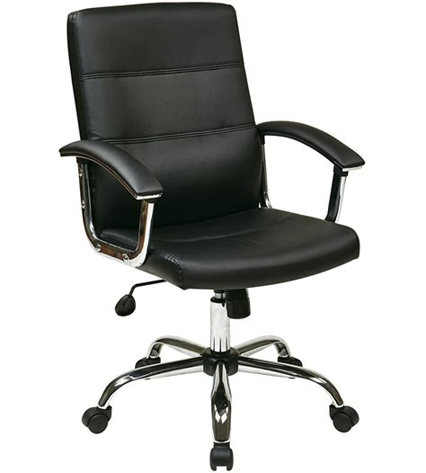 Faux Leather Office Chair In Office Chairs Desk Chairs For Home Office