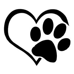 animal pet paw paws sticker heart pet love cat dog german
