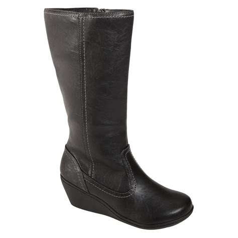 Boots Fashion Ad An 30 Wedges Hitam only at sears s i comfort wedge fashion boot