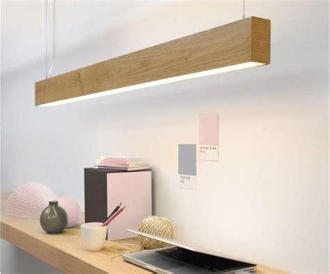 Long narrow Teak wood pendant light   great for a study